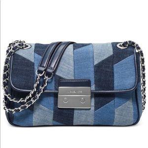 Michael Kors Bags - Michael Kors Chain Strap Denim Crossbody Bag